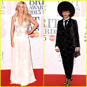 Ellie Goulding Dons Sheer Look at BRIT Awards 2015