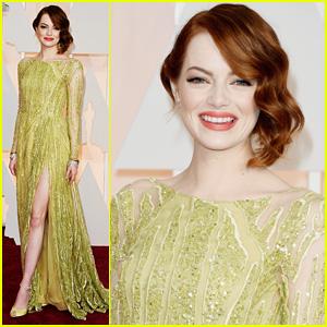 Emma Stone Elegantly Sparkles at Oscars 2015