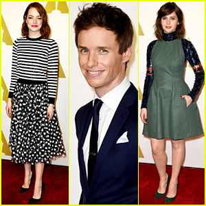 Emma Stone Mixes Her Prints at the Oscars Luncheon 2015