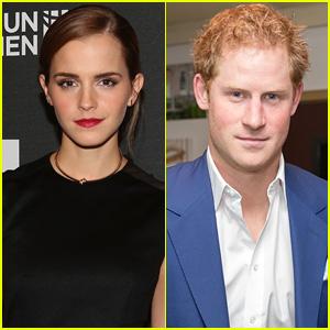 Emma Watson Shoots Down Prince Harry Rumors!