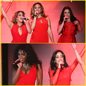 Fifth Harmony Go Red For New York Fashion Week - See Their Runway Pics!