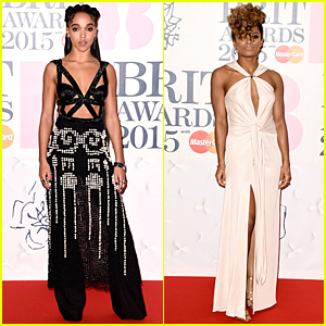 FKA Twigs & Fleur East Wear Revealing Outfits at BRIT Awards 2015