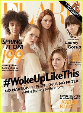 Flare's March 2015 Cover Models Really Did Wake Up Like This  - See The Make Up Free Cover!