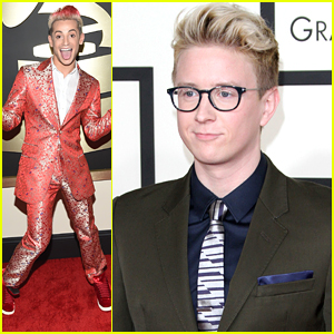 Frankie Grande Matches His Hair To His Suit For Grammys 2015