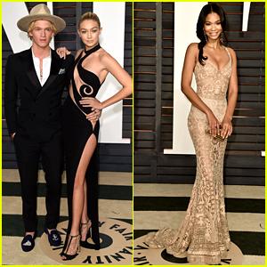 Gigi Hadid & Cody Simpson Couple Up at Second Oscars 2015 Party!