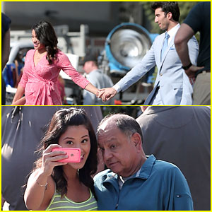 Gina Rodriguez & Justin Baldoni Hold Hands For 'Jane the Virgin' Scenes!