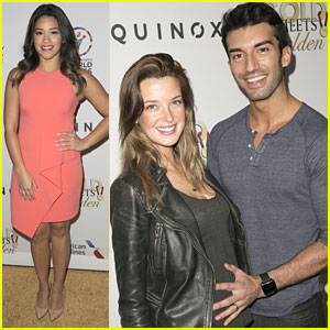 Gina Rodriguez & Justin Baldoni Meet Olympians at 'Gold Meets Golden' Event