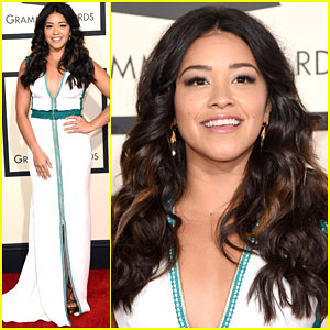 Gina Rodriguez Can't Get Enough of Sam Smith at Grammys 2015
