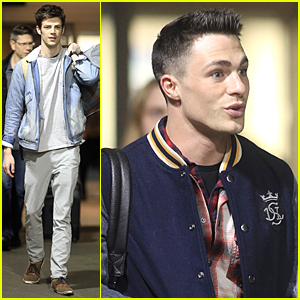 Grant Gustin & Colton Haynes 'Flash' Back to Vancouver