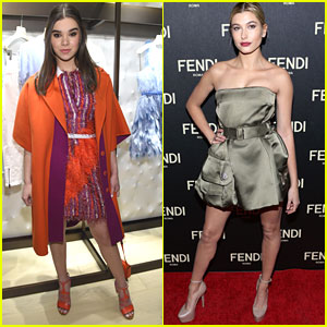 Hailey Baldwin & Hailee Steinfeld Help Open Fendi's New York Flagship Store