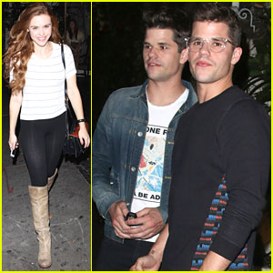 Holland Roden & Charlie Carver Grab Dinner After 'Teen Wolf' Season Five Starts Filming
