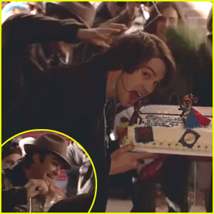 Ian Somerhalder Pushes Steven R. McQueen's Face Into Cake on His Last Day on 'The Vampire Diaries' (Video)