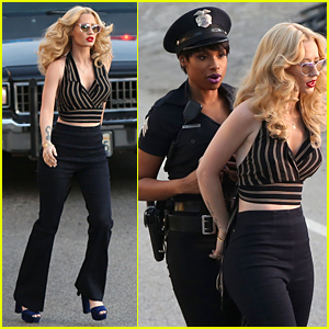 Iggy Azalea Brings 'Trouble' To Jennifer Hudson On Music Video Set