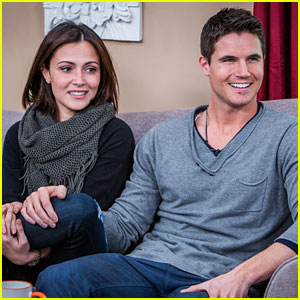 Italia Ricci & Robbie Amell Hit Up Hallmark Channel's 'Home & Family' Together