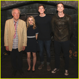 James & Oliver Phelps Help Celebrate The Magic Of Harry Potter With Evanna Lynch