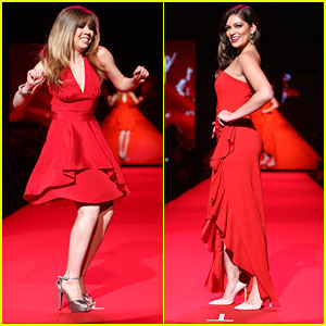 Jennette McCurdy & Bethany Mota Own The Catwalk at Go Red For Women Fashion Show