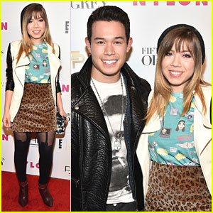 Jennette McCurdy Promotes Heart Health Before 'Fifty Shades Of Grey' Fashion Week Party