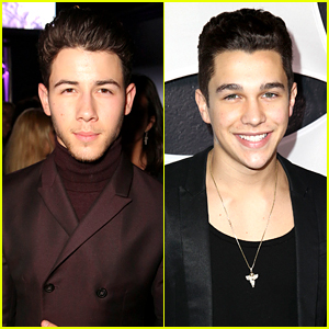 Nick Jonas & Austin Mahone Party with Republic Records After Grammys 2015