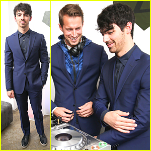 Joe Jonas Gets Behind the DJ Booth at Z Zegna Celebration