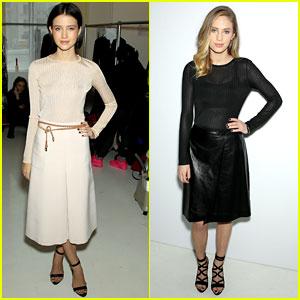 Dylan Penn & Julia Goldani Telles Doll Up For Jill Stuart Fashion Show