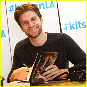 Keegan Allen Takes Pics of Fans At 'life.love.beauty' Kitson Signing
