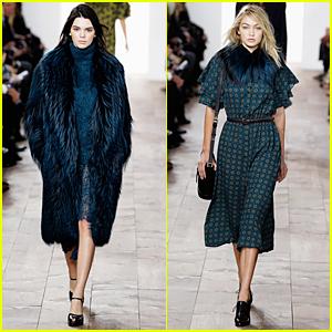 Kendall Jenner & Gigi Hadid Hit Runway at Michael Kors Show