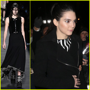 Kendall Jenner Sports Wet Hair in Her Face During Alexander Wang Fashion Show