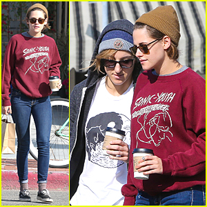 Kristen Stewart Grabs Coffee With Alicia Cargile Before Flying to London