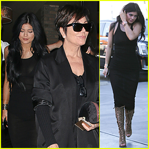 Kylie & Kris Jenner Celebrate New Manison Purchase at Craig's