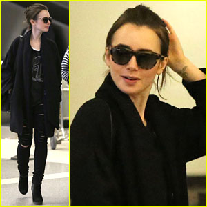 Lily Collins Suffers From Jetlag After Quick Getaway