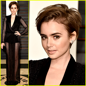 Lily Collins Has a New Haircut - See Her Oscars Look!