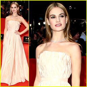 Lily James Wore a Corset to Achieve Cinderella's Small Waist