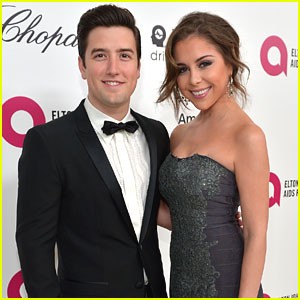 Logan Henderson & Makenzie Vega Hit Elton John's Oscars Viewing Party Together