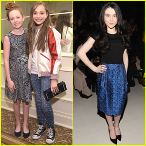 Maddie Ziegler Wraps Up Fashion Week With Clare Foley & Lilla Crawford