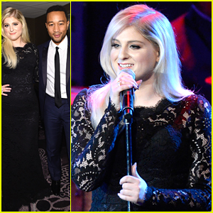 Meghan Trainor Performs With John Legend at Clive Davis's Pre-GRAMMY Gala and Salute To Industry Icons