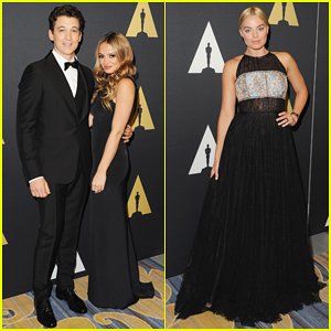 Miles Teller Gets Support from Girlfriend Keleigh Sperry at Academy's Sci-Tech Awards Hosting Gig!