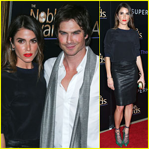 Ian Somerhalder & Nikki Reed Are One Cute Couple at Noble Awards