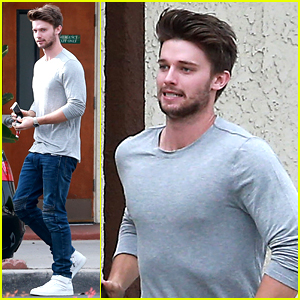 Patrick Schwarzenegger Saw a White & Gold Dress
