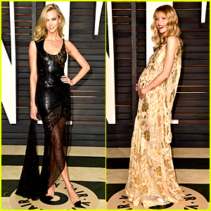Taylor Swift's BFFs Karlie Kloss & Jaime King Attend Oscars 2015 Party!