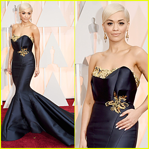 Rita Ora's Bodyguard Follows Her at Oscars 2015