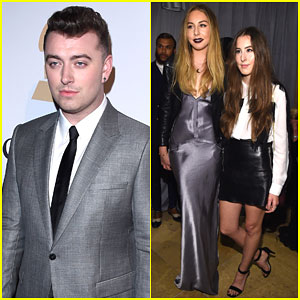 Sam Smith & Haim Are a Musical Group at Pre-Grammys Party