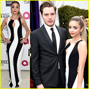 Sarah Hyland & Dominic Sherwood Are One Cute Couple at an Oscar Viewing Party!