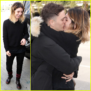 Shenae Grimes & Hubby Josh Beech Pack on the PDA at the Airport