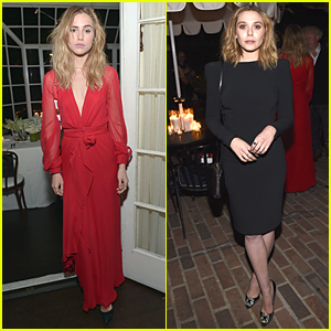 Suki Waterhouse & Elizabeth Olsen Doll Up For Vanity Fair Dinner