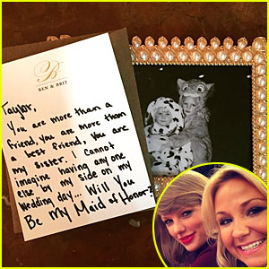 Taylor Swift Says Yes To BFF Britany Maack Maid of Honor Ask