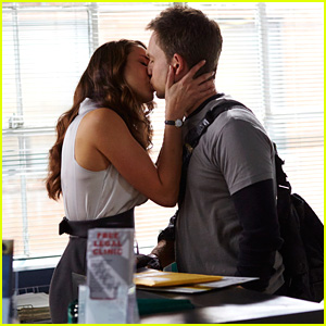 Troian Bellisario Kisses Real-Life Fiance Patrick J. Adams in New 'Suits' Photos (Exclusive)