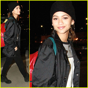 Zendaya Heads To New York Fashion Week From L.A.