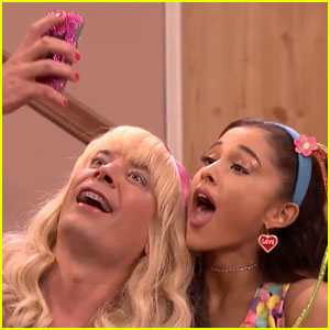 Ariana Grande Stops By 'EW!' With Jimmy Fallon