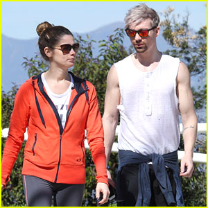 Ashley Greene Hits The Trails With Hairstylist Joseph Chase