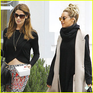 Ashley Tisdale Lunches With Ashley Greene Before Running Errands